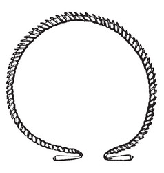 Torques was worn round the neck vintage engraving vector