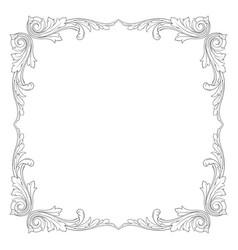 vintage baroque ornament element vector image vector image
