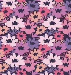 vintage flower seamless pattern vector image vector image