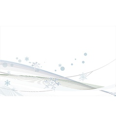 White christmas background with snowflakes vector image vector image