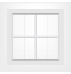 White window vector image