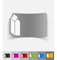 Realistic design element cardboard package vector