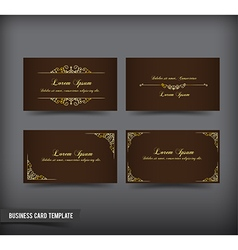 Business card template set 59 vector