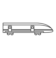 Modern high speed train icon outline style vector image