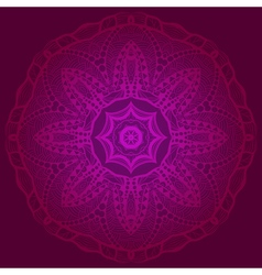 Lacy mandala in the indian style bohemian ornament vector