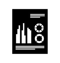 Paper document office isolated icon vector