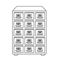 Library catalog icon in outline style isolated on vector