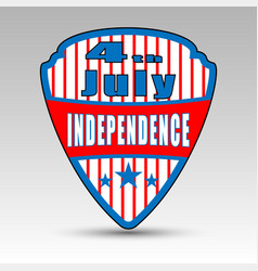 fourth july shield emblem vector image