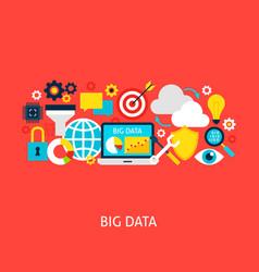 Big data flat concept vector