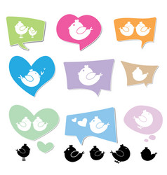 Bird logo on speech bubbles vector
