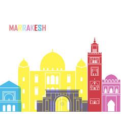Marrakesh skyline pop vector