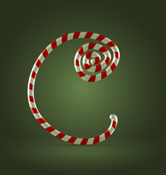 Candy cane abc c vector