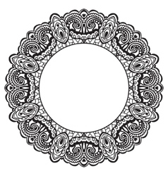 Abstract ornate frame element for design vector