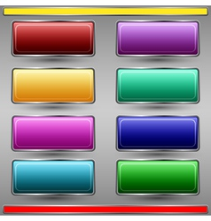 Glass buttons collection vector