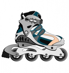 cartoon skate boot vector image