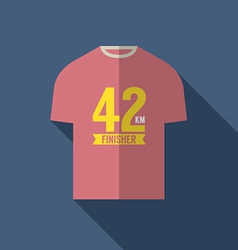 Finisher shirt for marathon runner vector