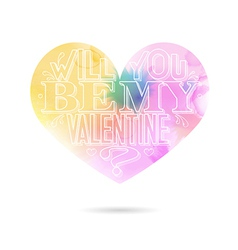 Will you be my valentine greeting card vector