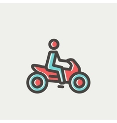 Motorbike thin line icon vector