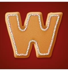 Christmas gingerbread cookies alphabet vector