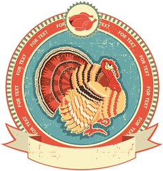 Turkey label vector