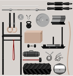 Crossfit sport equipment vector