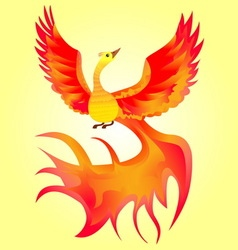 Multicolored firebird vector