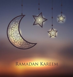 Ramadan kareem backdrop vector