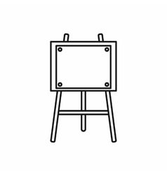 Wooden easel icon outline style vector