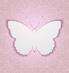 Abstract background with paper butterfly eps10 vector image