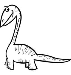 apatosaurus dinosaur coloring page vector image vector image