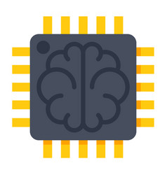 Artificial intelligence icon vector