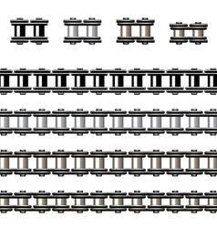 bicycle chain seamless vector image vector image
