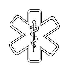 Caduceus medical symbol isolated icon design vector