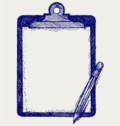 Clipboard with pencil vector image vector image