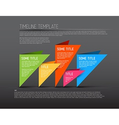 Colorful dark infographic timeline report template vector