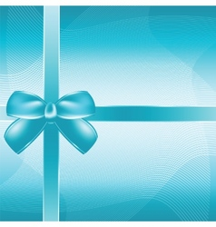 Cover of the present box blue background vector image vector image