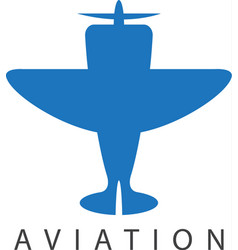 design template of small jet airplane vector image