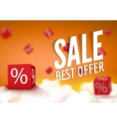 Discount boxes dice for store market and shop vector