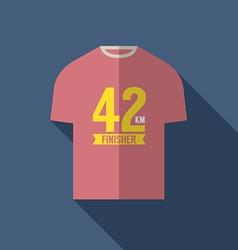 Finisher Shirt For Marathon Runner vector image vector image
