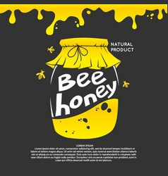 For advertising honey vector