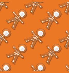 halloween festive seamless pattern with cookies vector image vector image