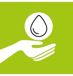 hands together environment water concept vector image