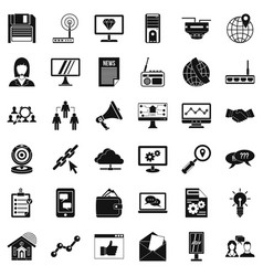 Helpdesk icons set simple style vector