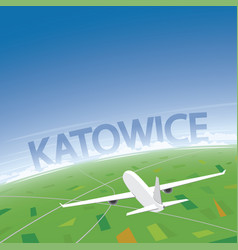 katowice flight destination vector image