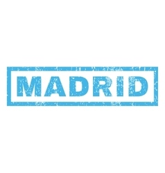 Madrid Rubber Stamp vector image
