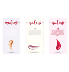 Makeup design template with place for text vector