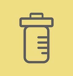Medicine Bottle Icon vector image vector image