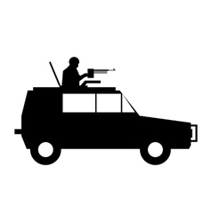 Military war car simple icon vector image