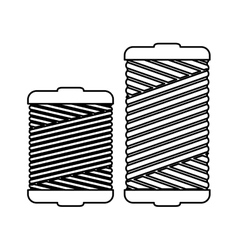 Monochrome contour with thread spool pair vector