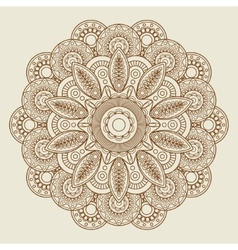 Round floral henna tattoo mandala vector image vector image